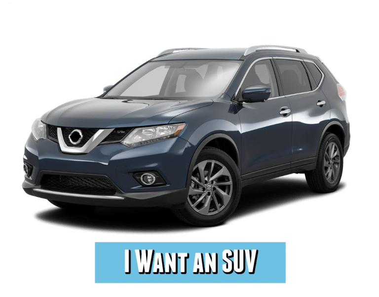 blue nissan rogue SUV